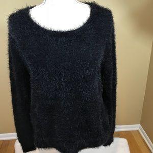Jessica Simpson Fuzzy Black Sweater
